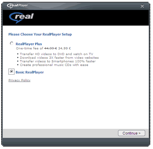 RealPlayer Basic