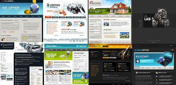 большое многообразие шаблонов в WordPress