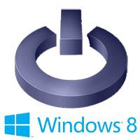 Выключение ПК в Windows8